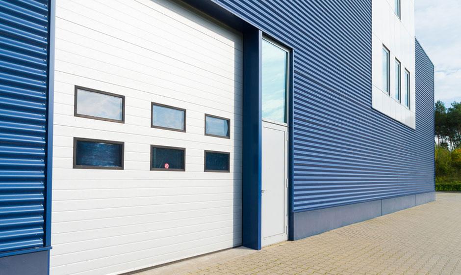 Commercial Locked Garage Door